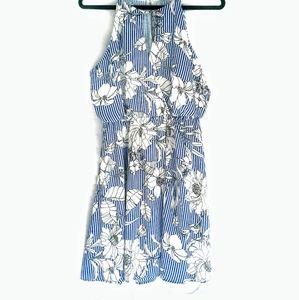 Lush Blue &White Dress
